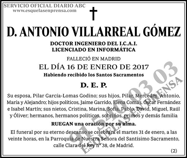 Antonio Villareal Gómez